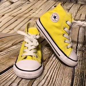 Toddler Yellow converse shoes